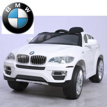 voiture suv lectrique enfant 4x4 bmw x6 commande parentale 12v blanc autre jeu de plein air. Black Bedroom Furniture Sets. Home Design Ideas