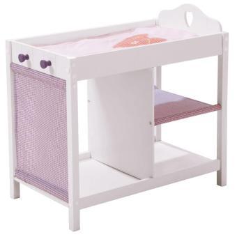 roba 98339 table à langer en bois déco fienchen pour poupées