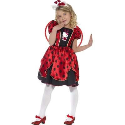 Costume de Hello Kitty© - Rouge-Enfant-6/8 ans (114 à 126 cm)