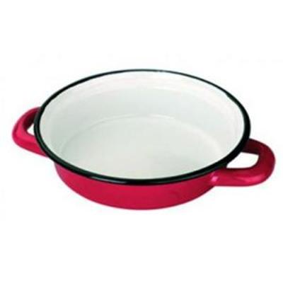 IBILI - Ustensiles et accessoires de cuisine - plat a oeufs émail rouge   14cm ( 9122-14-12 )