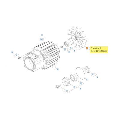 Karcher Helice De Ventilateur Pour Nettoyeur Haute-pression Ref: 56000380