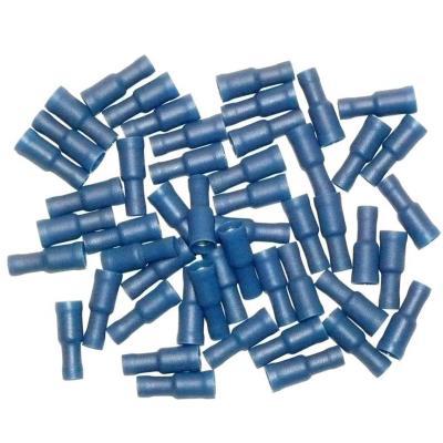 Cosses Electriques Femelles Rondes Bleues 5 Sachet De 50 Cosses