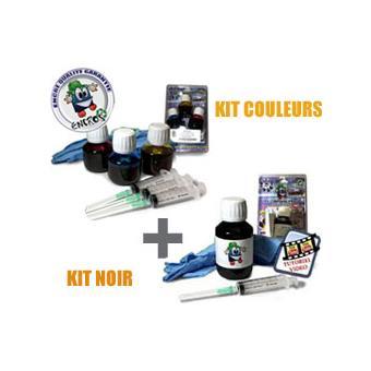 93311087be3f80 RECHARGE ENCRE- Pack kit Encre Couleur + noir HP22  HP21 - Cartouche  d encre noire - Achat   prix   fnac