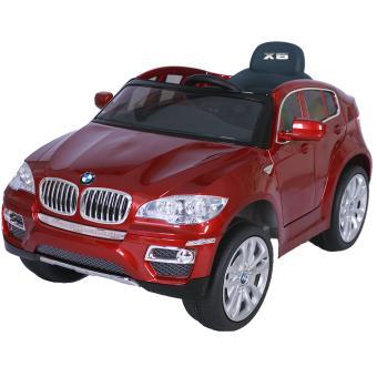 voiture lectrique enfant suv 4x4 bmw x6 commande parentale 12v rouge v hicule lectrique. Black Bedroom Furniture Sets. Home Design Ideas