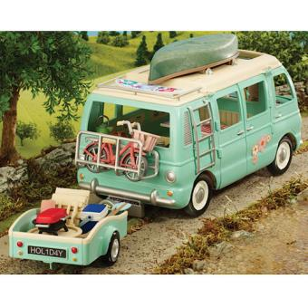 sylvanian families campervan trailer camping car et remorque v hicule et accessoires. Black Bedroom Furniture Sets. Home Design Ideas