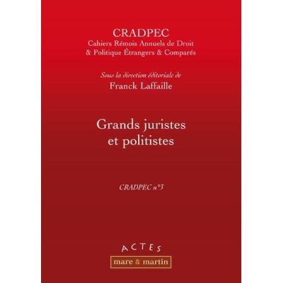 Grands Juristes Et Politistes