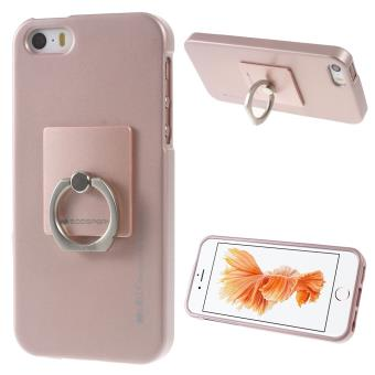 Coque En Tpu Mercury Stand Finger Ring Pour Iphone Se 5s 5 Rose