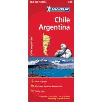 Mapa Michelin National  788 - Chile e Argentina