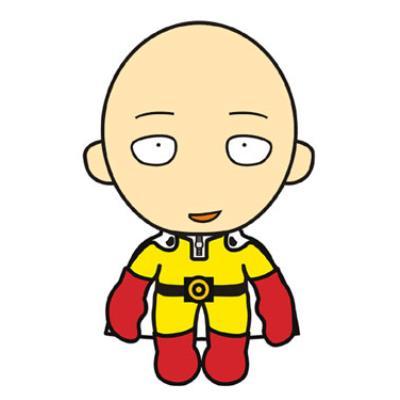 Sakami Merchandise - One-Punch Man peluche Saitama Happy Version 25 cm