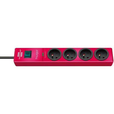 Brennenstuhl - brennenstuhl multiprise parafoudre hugo!, 4 prises, rouge 1150611374