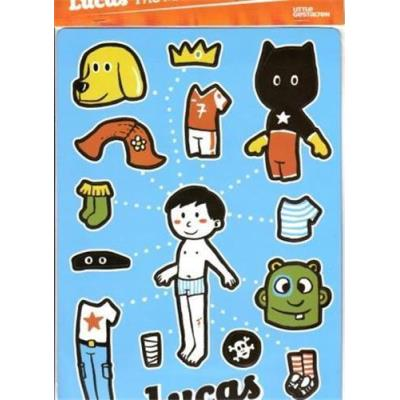 Lucas Magnetic Dress-Up Doll /Anglais
