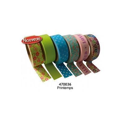 Tapes Lot 6 rubans adhesifs Printemps