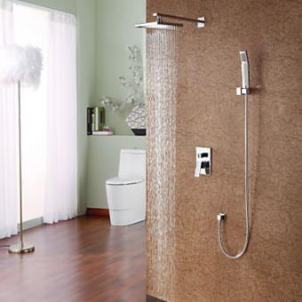 Robinet de douche moderne avec tête de douche en pluie 8\