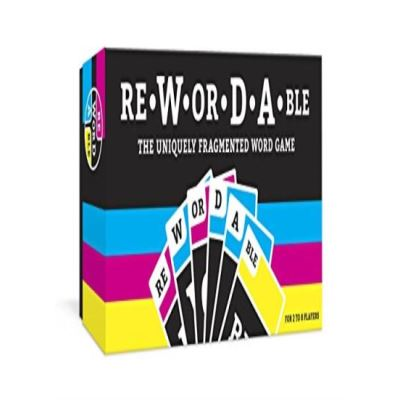 Rewordable: Uniquely Fragmented Word Game - [Livre en VO]