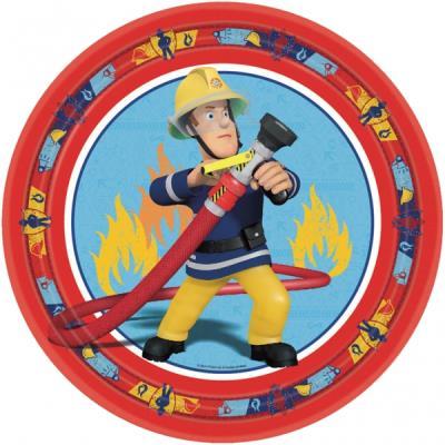 8 Assiettes 23 cm Sam le pompier™