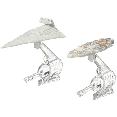 Hot Wheels – Star Wars – CGW93 – Star Destroyer vs Mon Calamari Cruiser – 2 Véhicules Miniature Die Cast