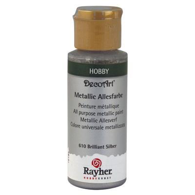 Peinture acrylique - Argent métallique - 59 ml
