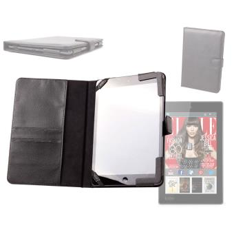 Housse etui style porte document noir fermeture magn tique kobo aura h2o h20 etui et coque - Fermeture magnetique porte ...
