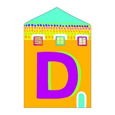 Djeco - Lettre petite maison en bois - D