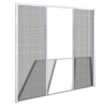 Vidaxl Moustiquaire Coulissante Blanche Pour Porte Fenêtre 215 X Cm