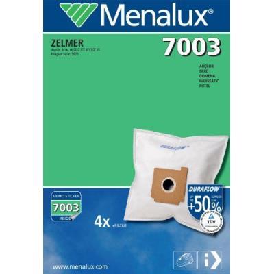 Menalux 7003 4 Sacs Aspirateur Compatible pour Zelmer Magnat / Solaris + 1 Filtre Moteur à Découper + 1 Micro Filtre
