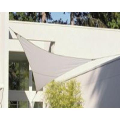 Voile d'ombrage triangulaire Blanc en Polyester 200g/m² anti-UV, 360 x 360 x 360 cm avec kit de fixation -PEGANE-