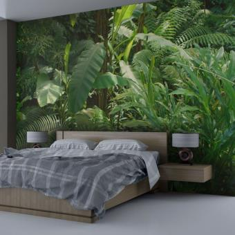 papier peint nature jungle tropicale e papier vert d coration des murs achat. Black Bedroom Furniture Sets. Home Design Ideas