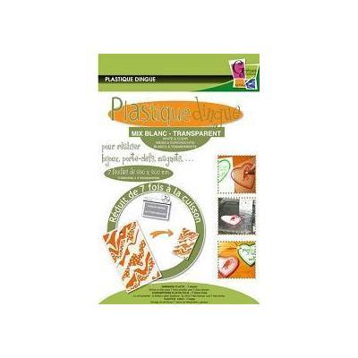 Plastique dingue pochette 7 feuilles mix Blanc/transparent