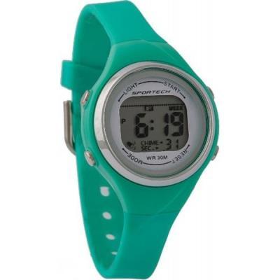 Sportech SP10701 - Sport - Montre Femme - Quartz Digital - Cadran Vert - Bracelet Silicone Vert