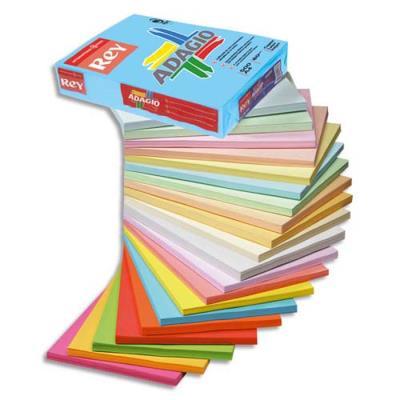 Lot de 5 Ramettes de 500 feuilles papier couleur intense ADAGIO orange intense A4 80g