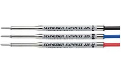 SCHNEIDER - Lot de 10 - Recharge pour stylo à bille Express 225, M, bleu