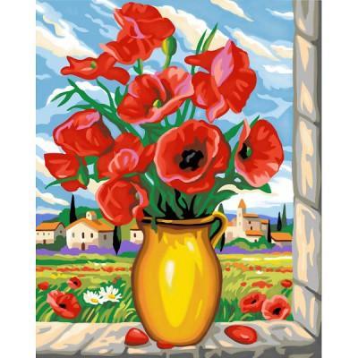 Oz International - Peinture au numéro - Maxi : Coquelicots