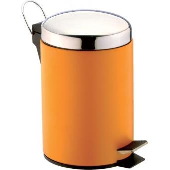 Sanwood Poubelle De Salle De Bain Matera 3 L Orange   Achat U0026 Prix | Fnac