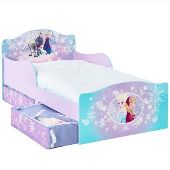 lit enfant reine des neiges avec tiroirs de rangement disney coffre jouets et rangements achat prix fnac - Lit Enfant Avec Tiroir