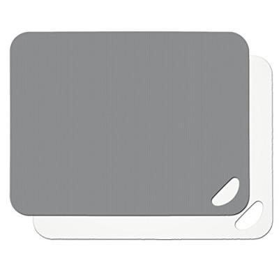 Lurch 10940 flexi planches à découper lot de 2, plastique, flint gris/blanc 29 x 38 x 4 cm