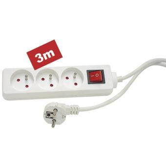 3 fois prise de courant 1,4m /& 3m avec protection des enfants plusieurs fois prise multiprise