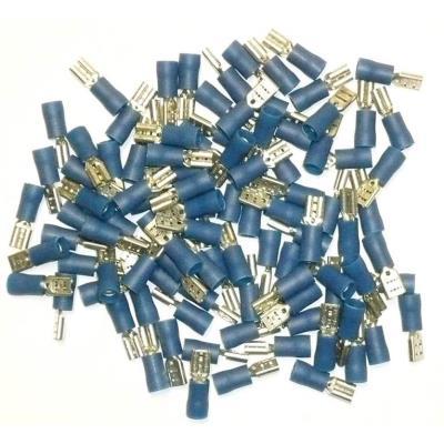 Cosses Electriques Femelles Bleues 4.7 Sachet De 100 Cosses