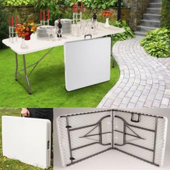 10 sur table pliante d 39 appoint portable pour camping ou r ception 180 cm mobilier de jardin. Black Bedroom Furniture Sets. Home Design Ideas