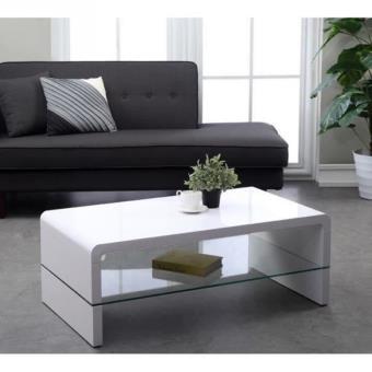 Primis table basse 105x55cm laqué blanc - Autres décoration ...