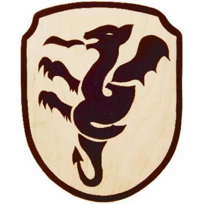 Bouclier de chevalier en bois Erlan
