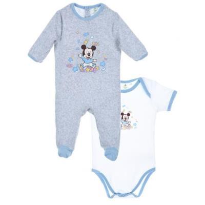 Coffret Cadeaux Pyjamas + Body Mickey - Taille 3 - 6 Mois