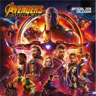 The Avengers Infinity War Calendrier 2019 carré 30 x 30 cm