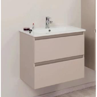 aqua meuble salle de bain taupe mat suspendre 80cm bely installations salles de bain achat prix fnac