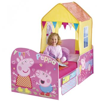 lit enfant avec tente de lit peppa pig achat prix fnac. Black Bedroom Furniture Sets. Home Design Ideas