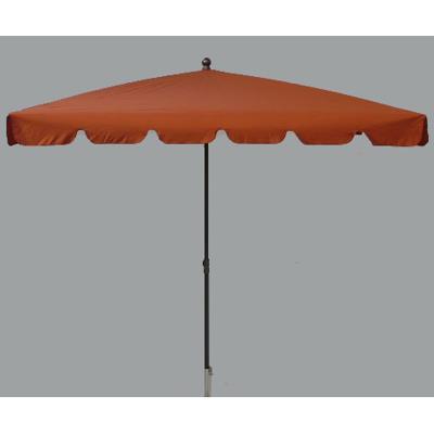 Parasol rectangulaire centré coloris Terracotta - Dim : H 250 x D 240 x 160/4 cm-PEGANE-