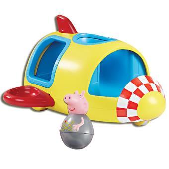 Peppa pig weebles la fus e de george v hicule et figurine culbuto univers miniature - Fusee peppa pig ...