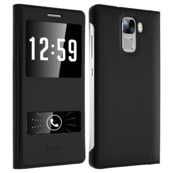 Housse, Étui folio S-view Cover 2x Fenêtres Samsung Galaxy S7 edge - Noir - Etui  pour téléphone mobile - Achat   prix   fnac 4139c78de68a