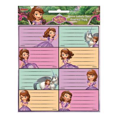 Lot de 16 étiquette Princesse Sofia Disney cahier enfant ecole