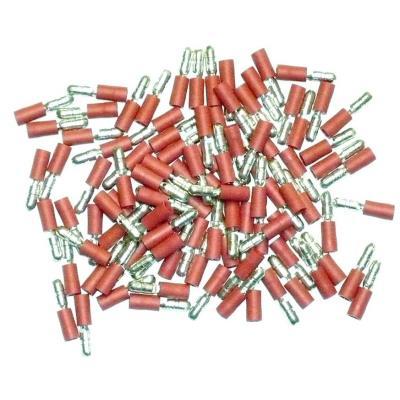 Cosses Electriques Males Rondes Rouges De 4 Sachet De 100 Cosses