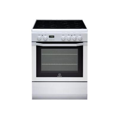 Indesit Full Glass I6V6C6A(W)/FR - cuisinière - pose libre - blanc